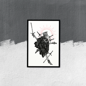 """Image of """"Five of Swords"""", 13""""x19"""""""