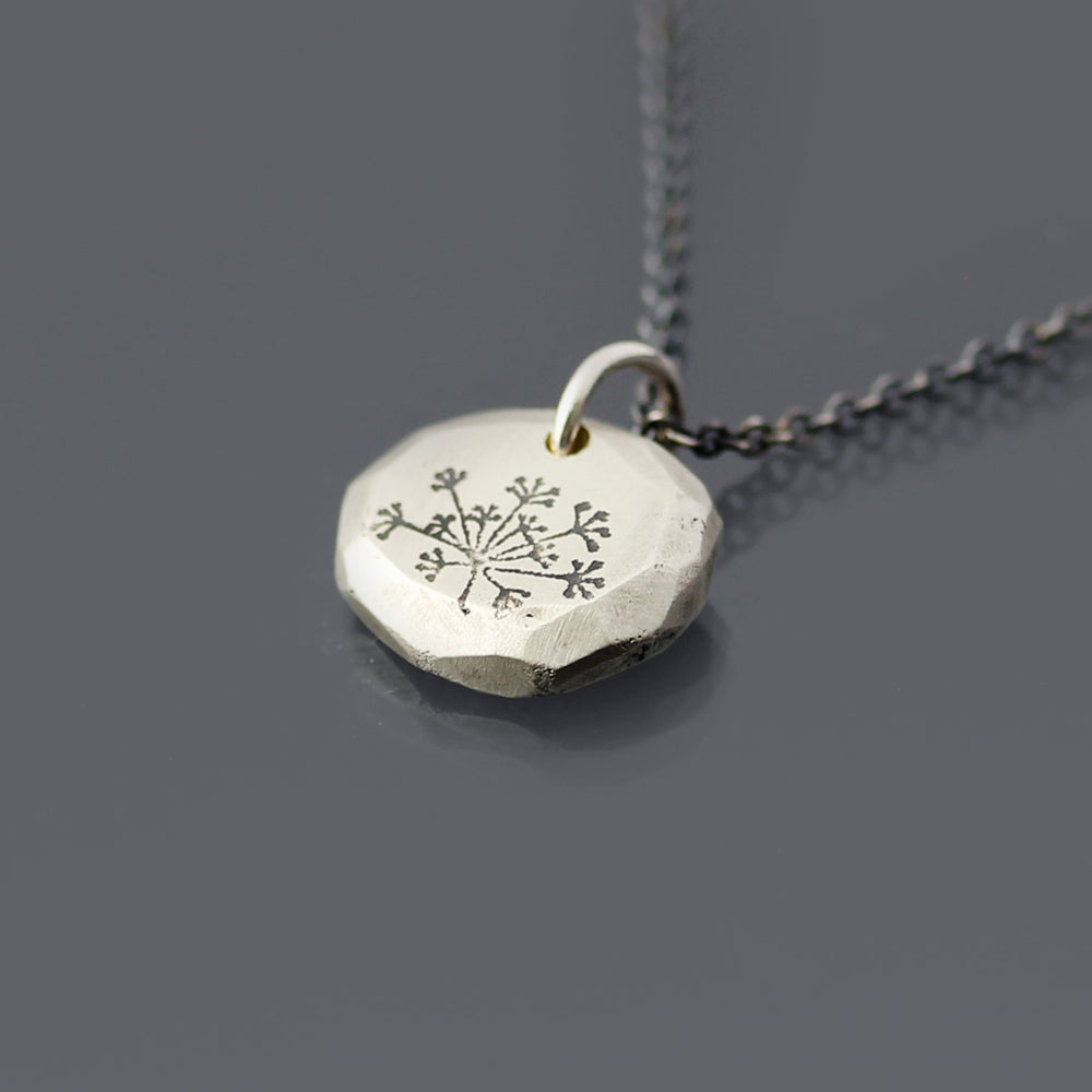 Image of Sterling Silver Queen Anne's Lace Faceted Nugget Necklace