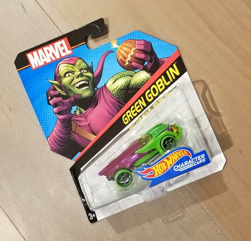 Image of Green Goblin - Hot Wheels Packaging Art