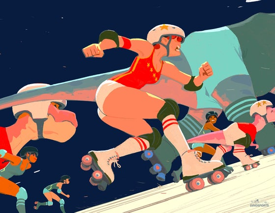 Image of DINO ROLLER DERBY