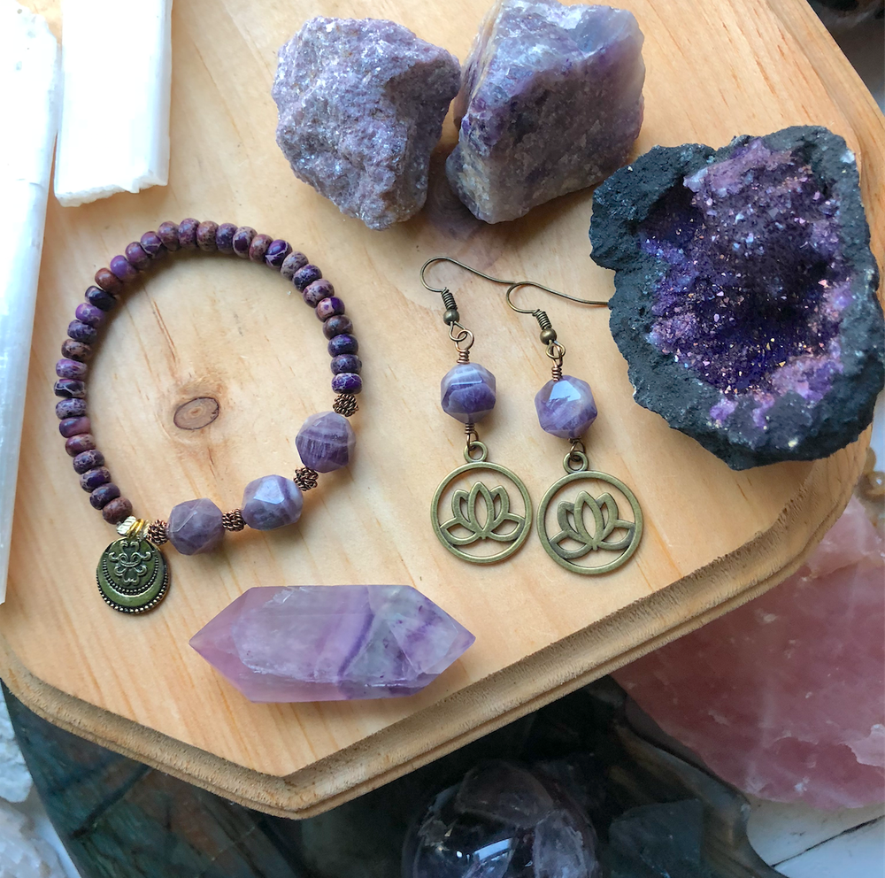 Image of Purple Passions Bundle of Healing Crystals + Jewelry