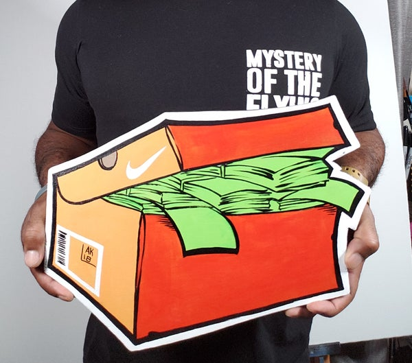 "Image of Ak Orange OG Swoosh ""Snker Money"" Box"