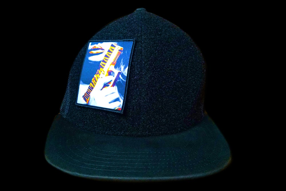 Image of Velcro hat black