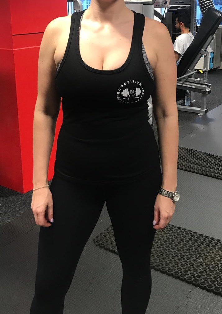 Image of Girls PMA Fitwear Black Singlet