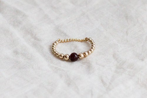 Image of Bague Safia // Garnet