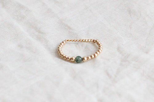 Image of Bague Safia Small // Moss Agate