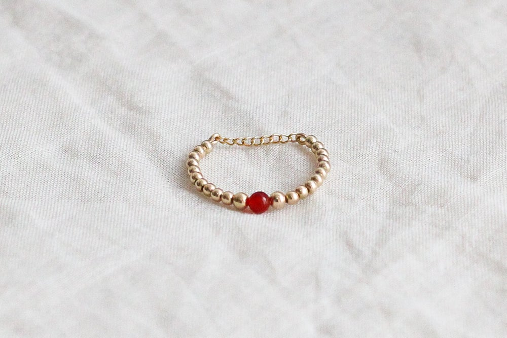 Image of Bague Safia Small // Red Agate