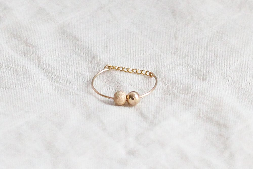Image of Bague Bubbles // Sparkly Gold