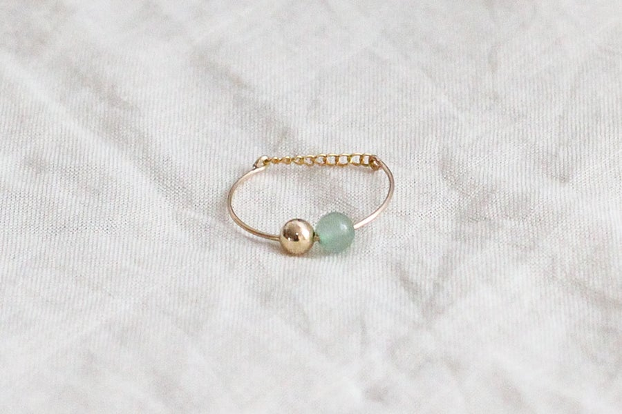 Image of Bague Bubbles // Aventurine