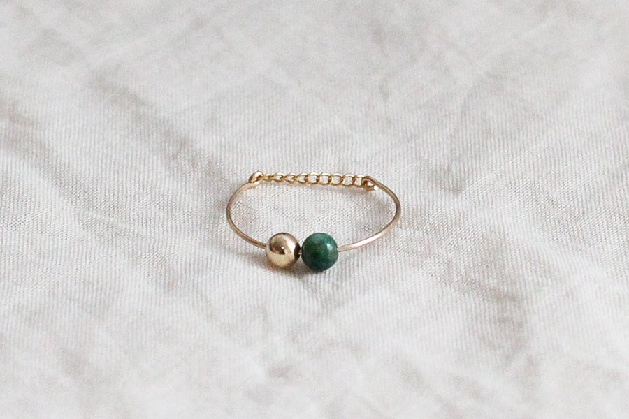 Image of Bague Bubbles // Green Agate
