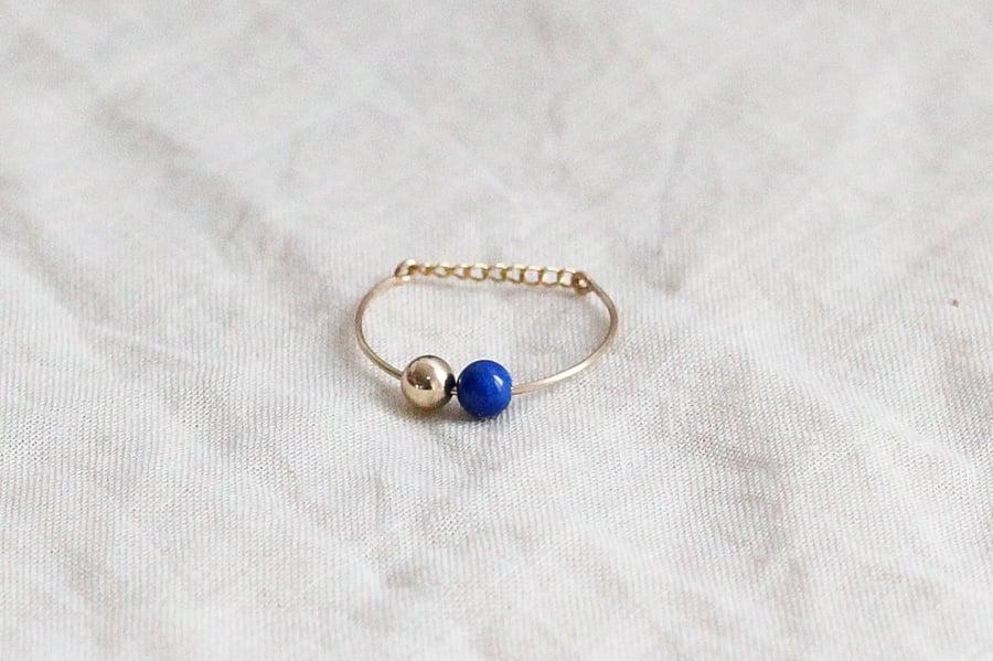 Image of Bague Bubbles // Lapis Lazuli
