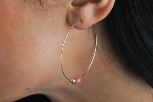 Image of Créoles Bubbles // Pink