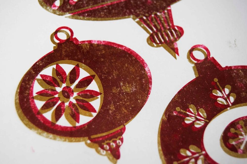 Image of Letterpress Christmas card workshop.  Sat. Nov 21st. 3 hour lesson 10am-1pm or 2pm-5pm sessions.
