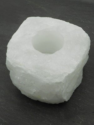 Image of WHITE QUARTZ TEALIGHT HOLDER