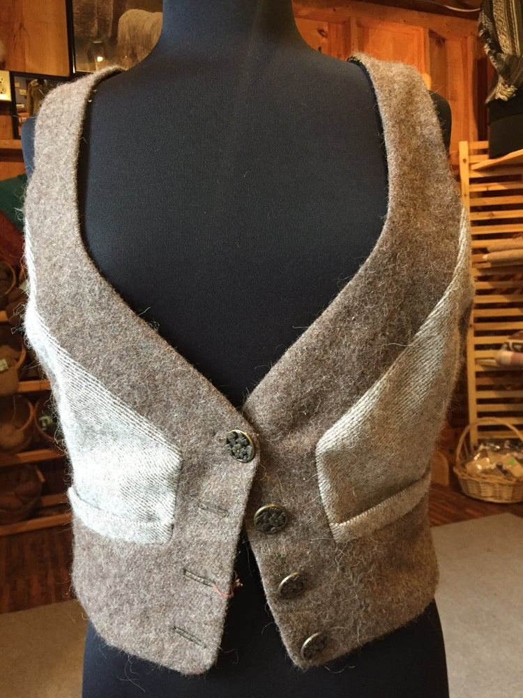 Image of Ladies hand-made Lined Alpaca Vest