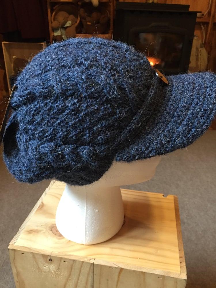 Image of Ladies Button Brimmed Alpaca Hat