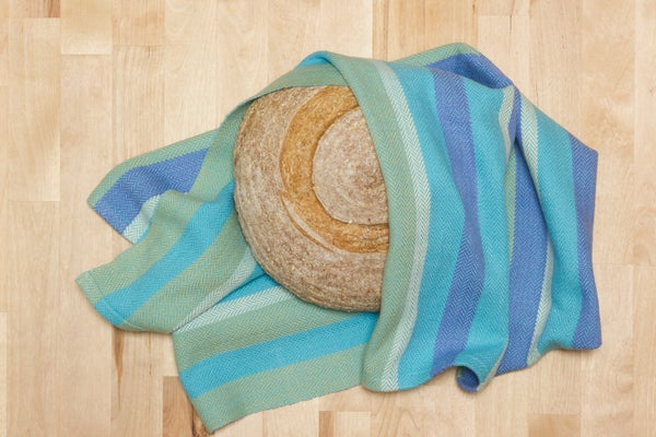 Image of Springtime Turquoise Towel