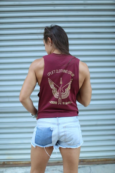 Image of Uplift Muscle Tank- Heather Cardinal