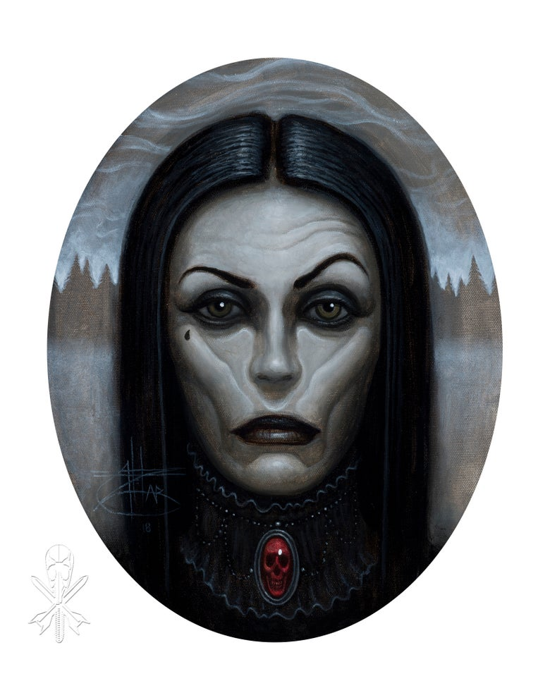 Image of Chet Zar giclée print 'Black Witch' signed edition of 10