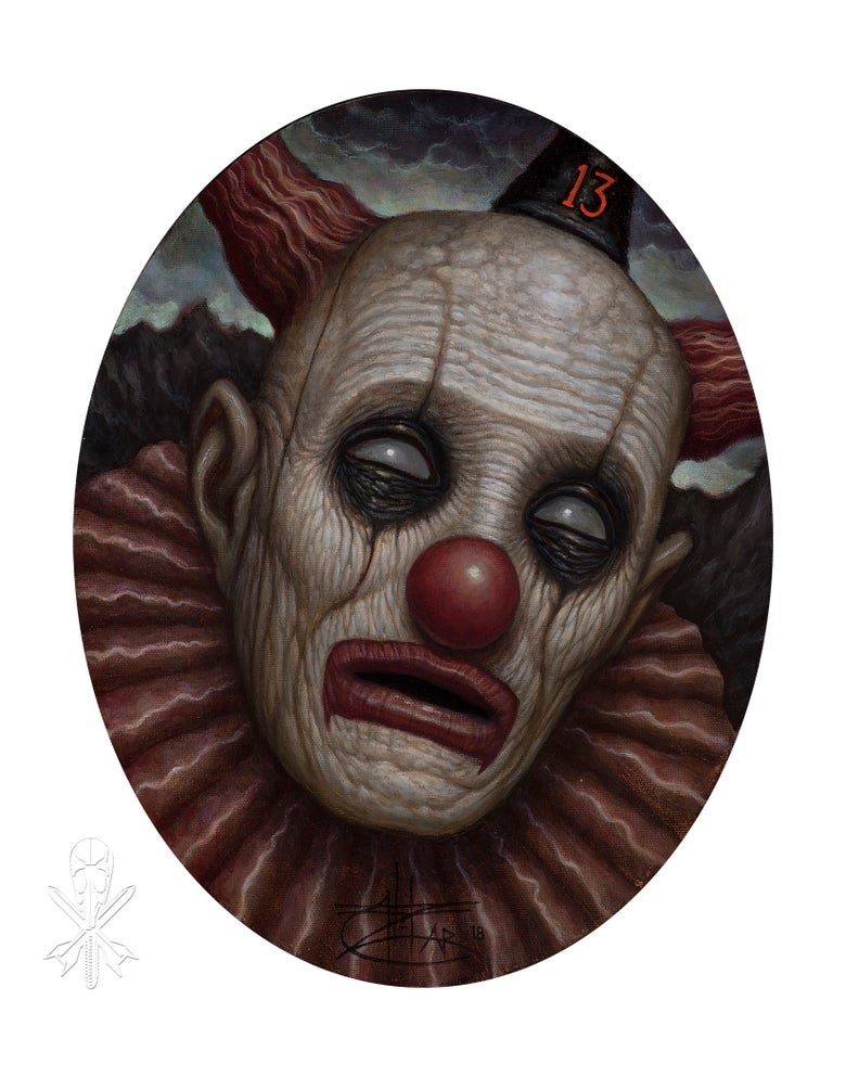 Image of Chet Zar giclée print 'Clown13' signed edition of 10