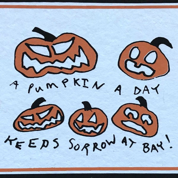 Image of PMA Pumpkins Postcard