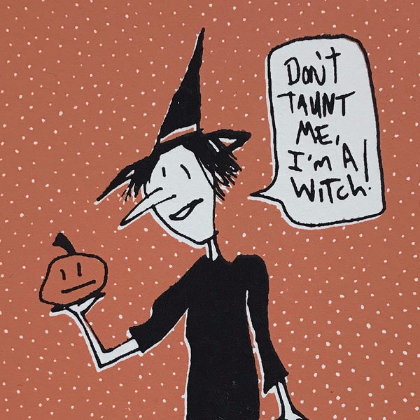 Image of Witch Postcard