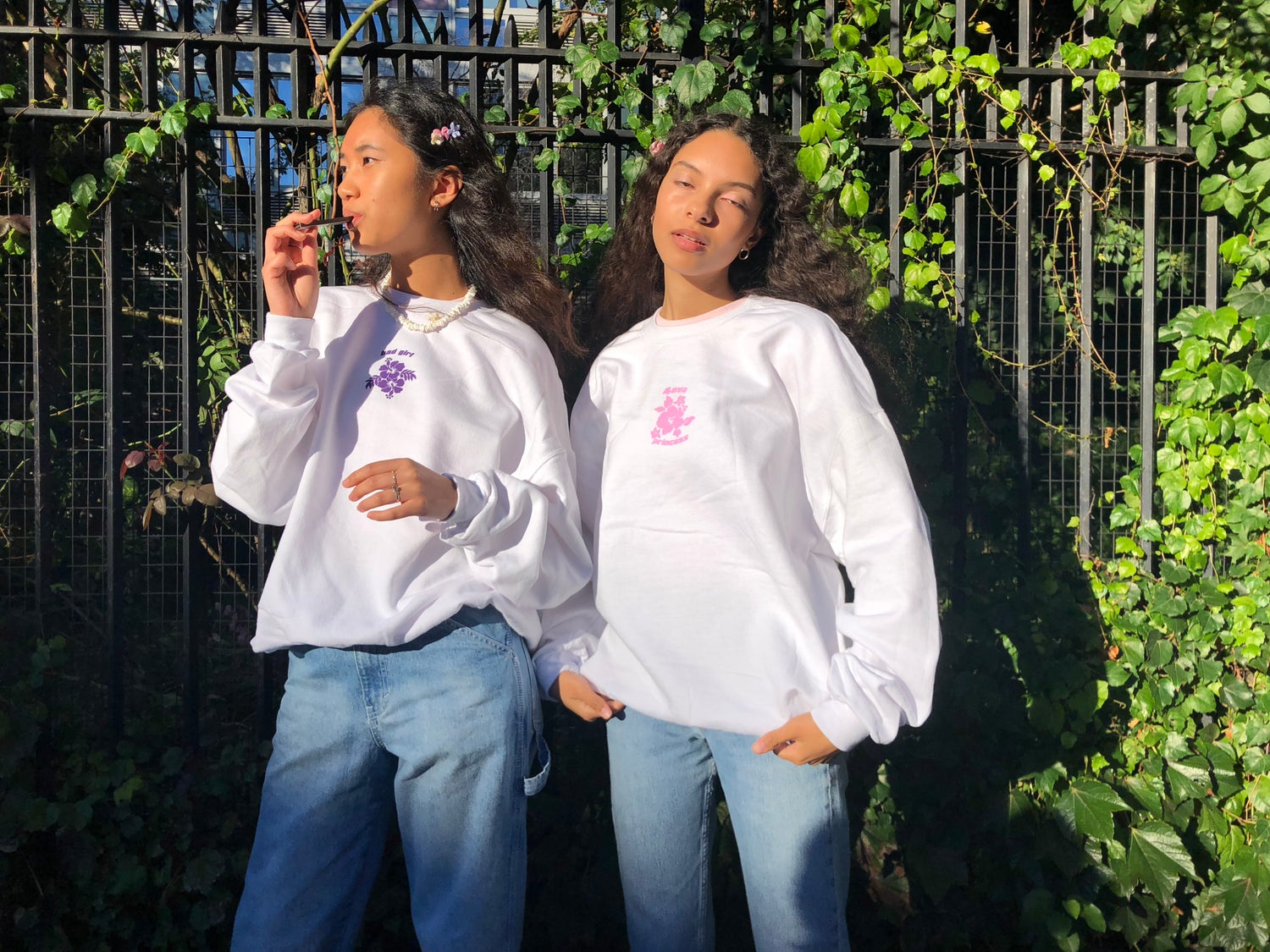 Image of White 4-Eva Princess and Bad Girl Sweaters One size fits all