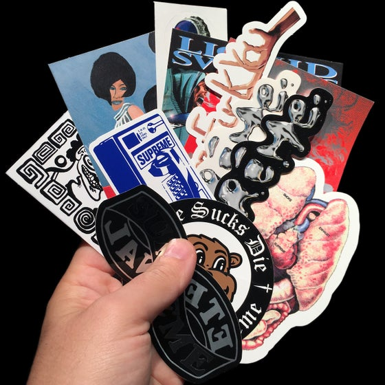 Image of 2018 FW Stickers (Guts Liquid, Bottle Cap, Madonna, Payphone, Eternal, Faces)