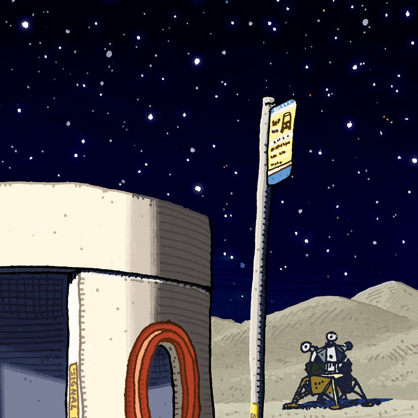 Image of Bus Shelter on the The Moon