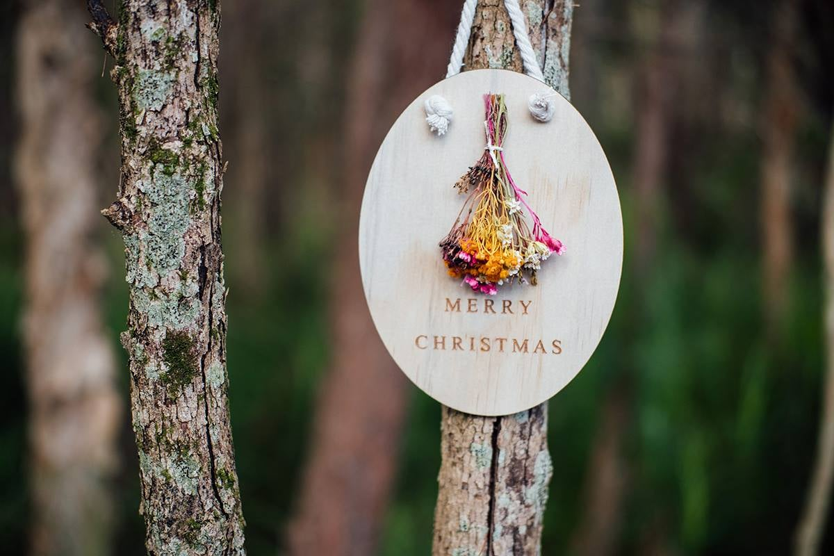 Image of WILDFLOWER 'MERRY CHRISTMAS' PLAQUE