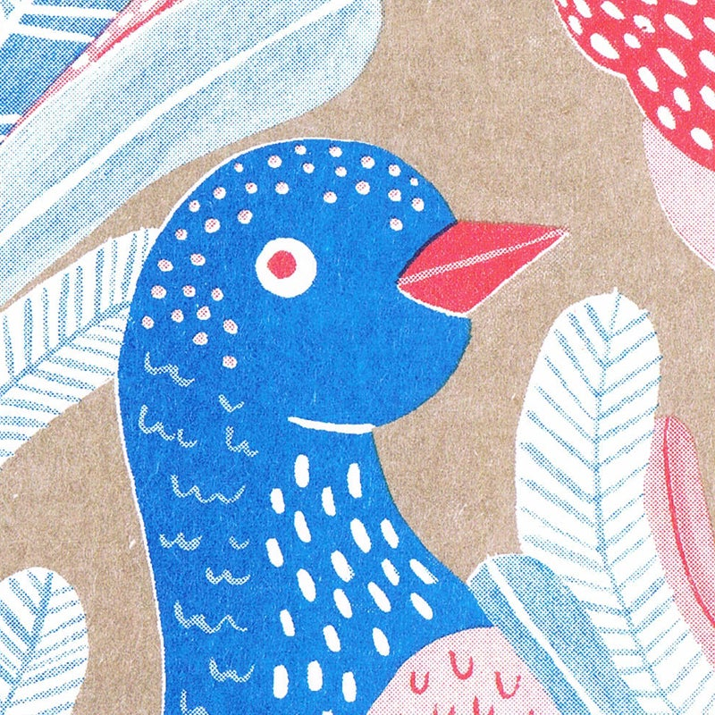 Image of Birds and Flowers // Mini Risograph set