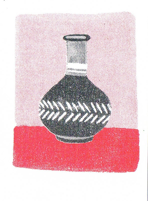 Image of Vases Mini Cards // Risograph Print