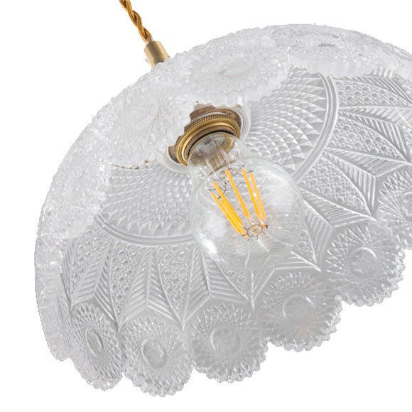 Image of Glass Shade pendant lamp - A