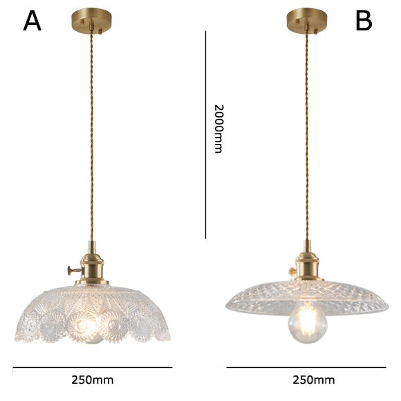 Image of Glass Shade pendant lamp - B