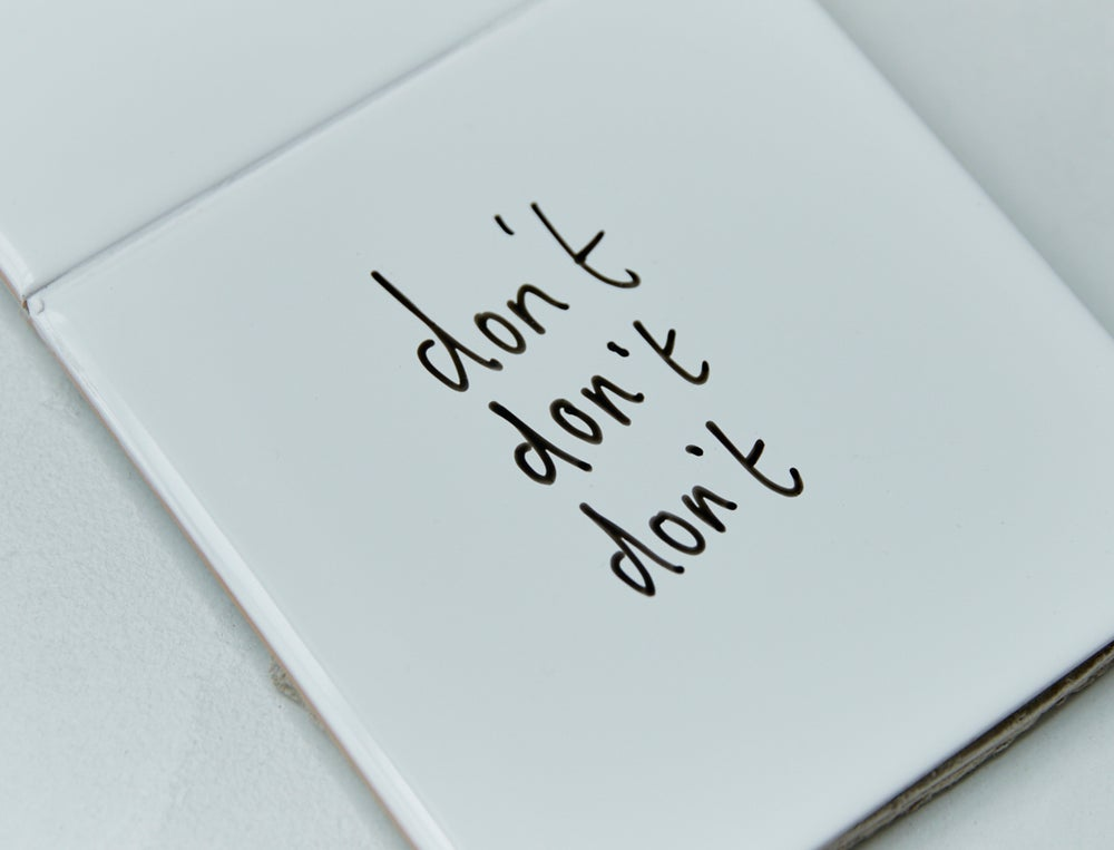 Image of don't don't don't