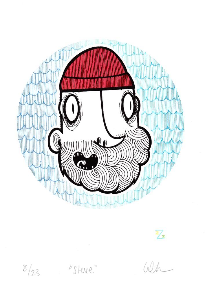 Image of Steve. A4 Screen Print.