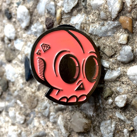 Image of EPIC SKULL PIN (CORAL)