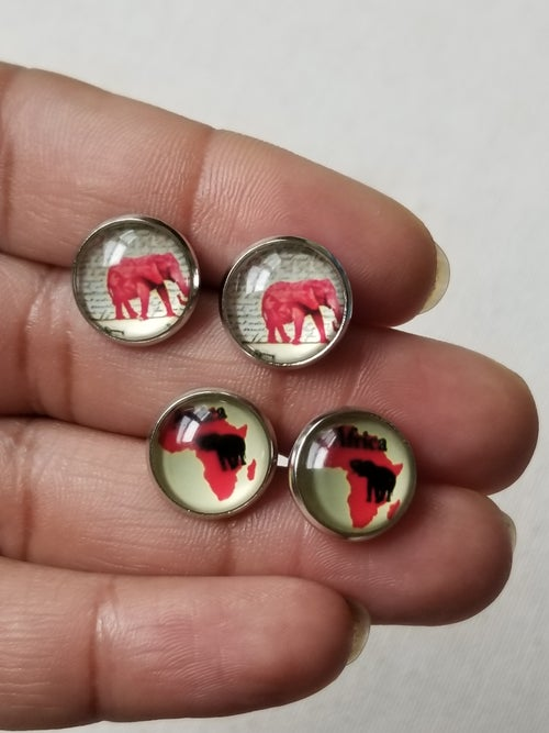 Image of Little Africa • Glass Studs