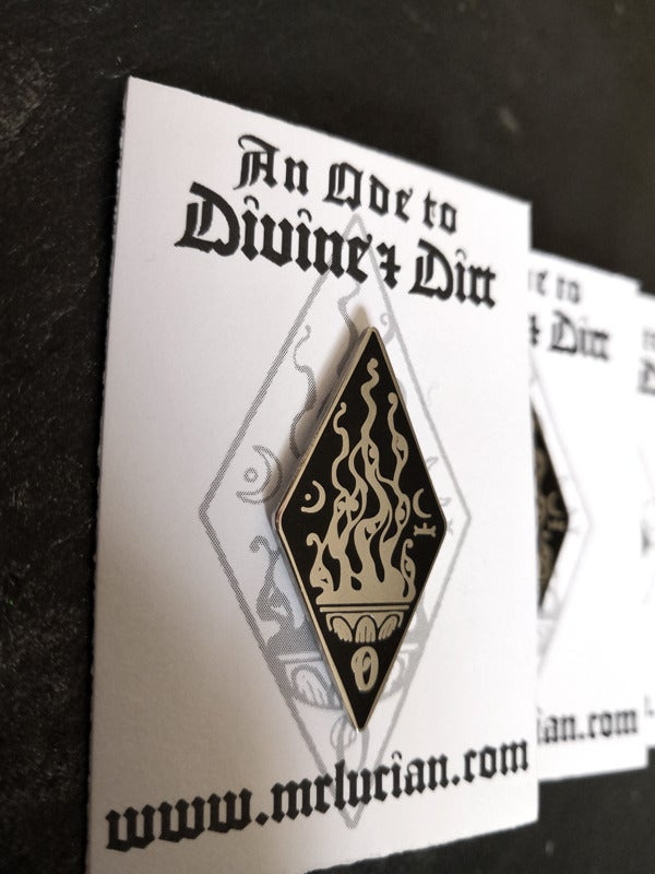Image of An Ode to Divine & Dirt Glyph Pin
