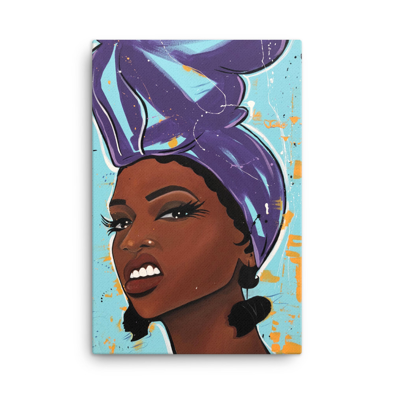 Image of Try Me | Purple Canvas Print