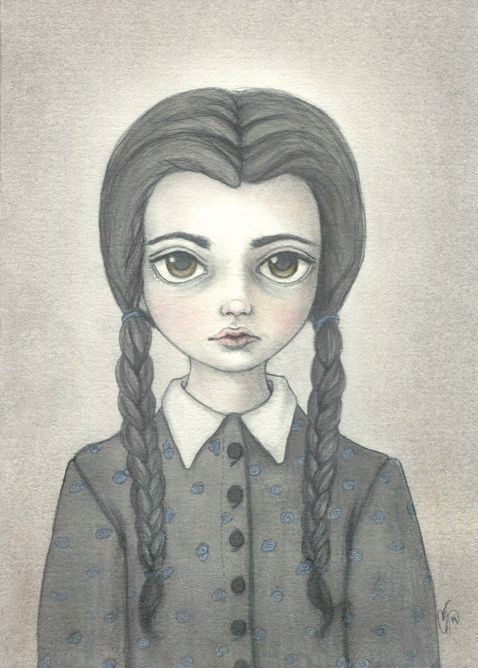 Image of Wednesday Addams print