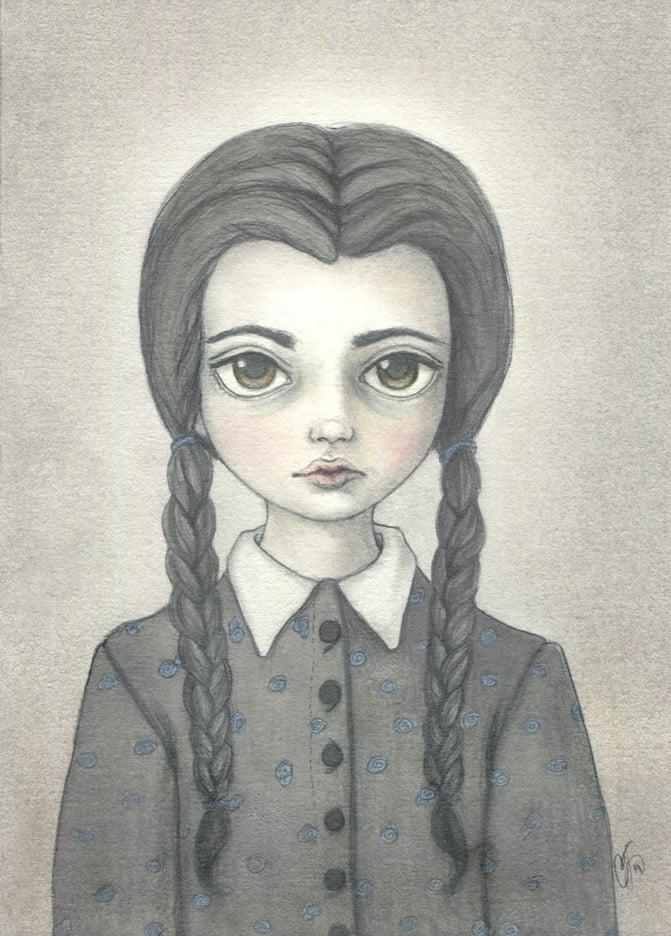Image of Wednesday Addams 4x6 print