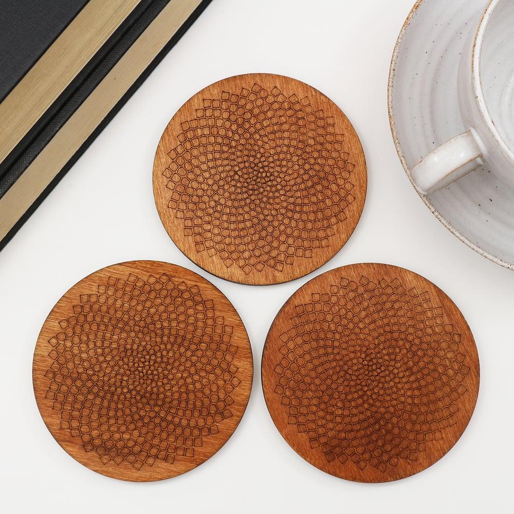 Image of Fibonacci Spiral Coasters