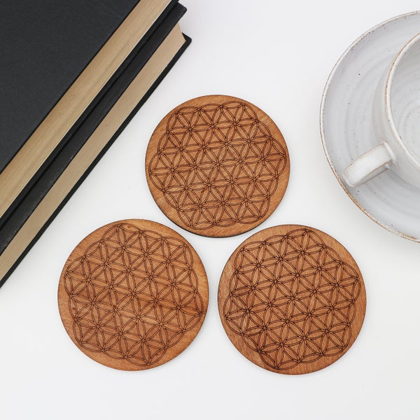 Image of Flower of Life Coasters