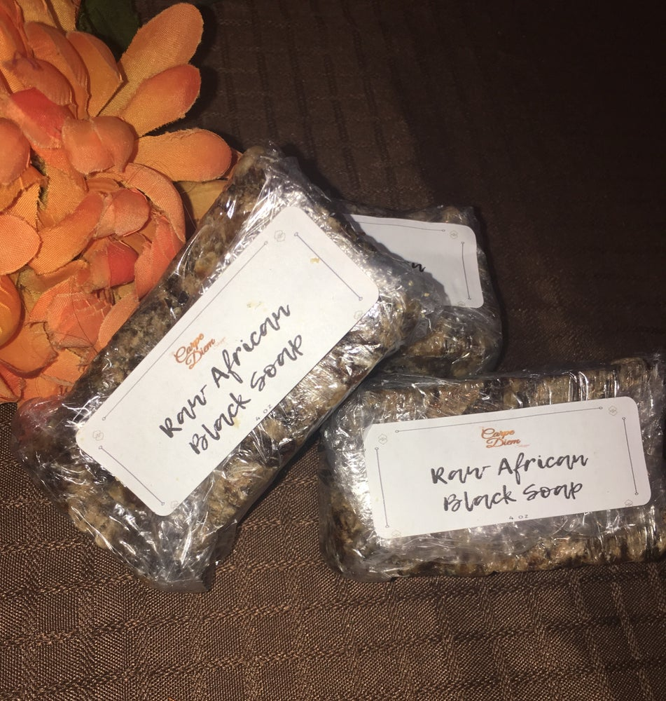Image of Raw African Shea Butter Black Soap (Bar)