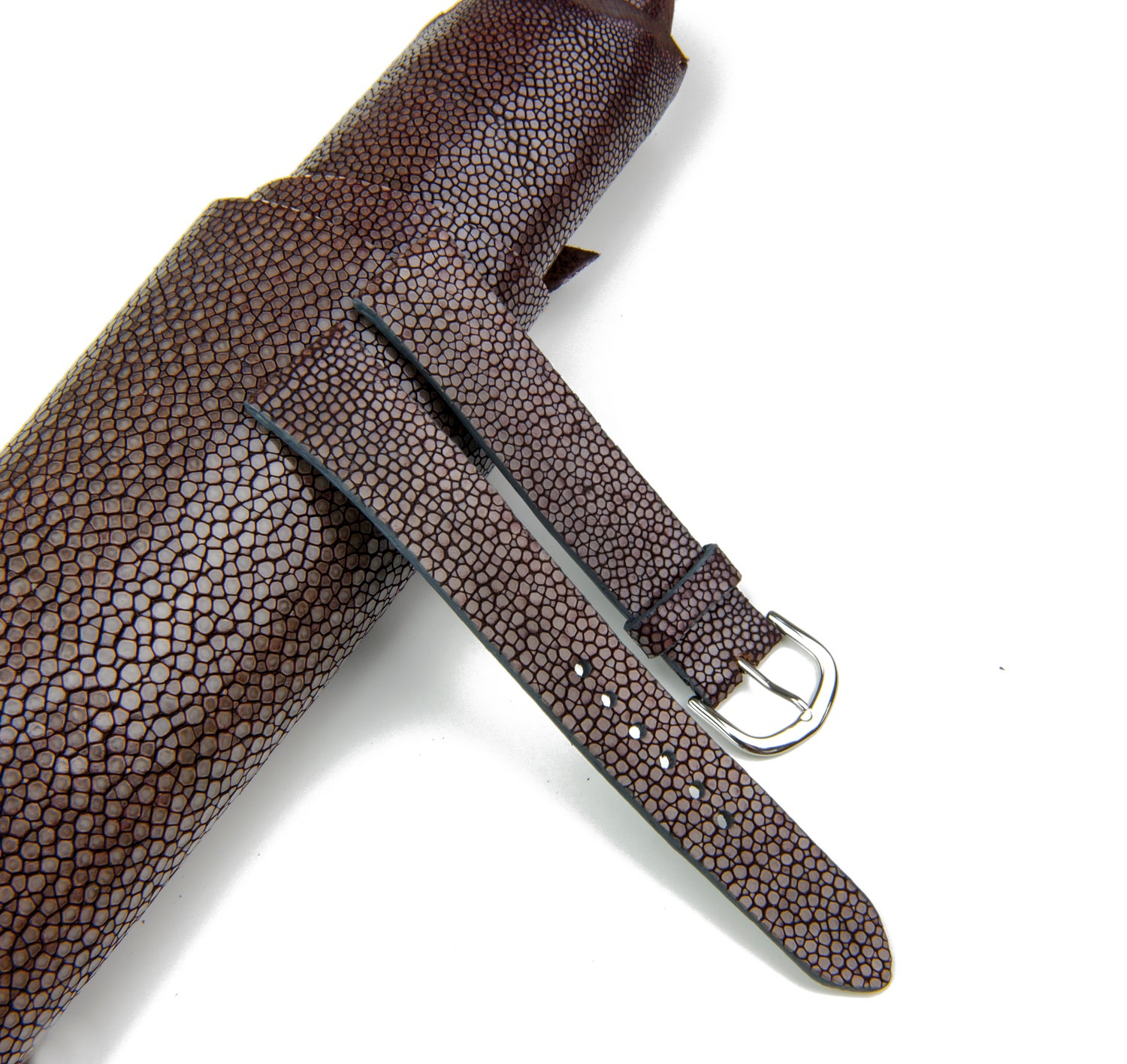 Image of Brown Stingray classic watch strap n°10