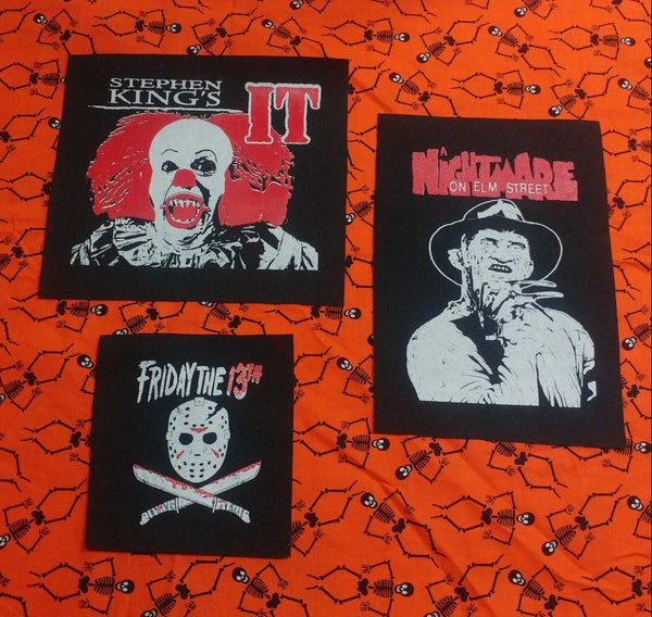 Image of Pick 1 patch - It pennywise, friday the 13th, freddy nightmare on elm st