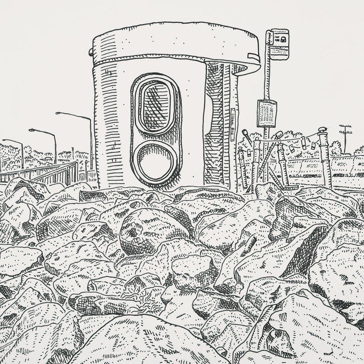 Image of Original Drawing of Amaroo, Mirrabei Drive bus shelter