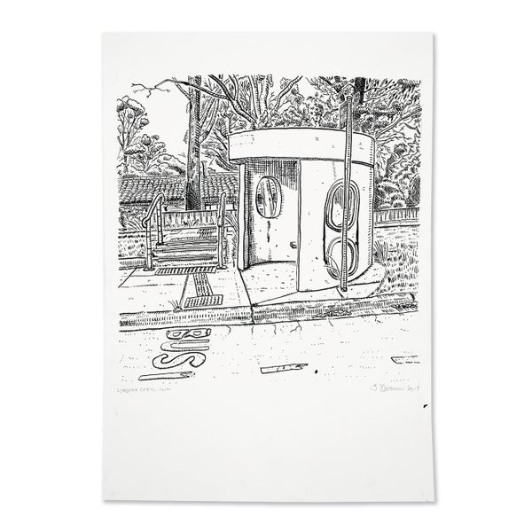 Image of Original Drawing of Cook, Lyttleton Crescent bus shelter