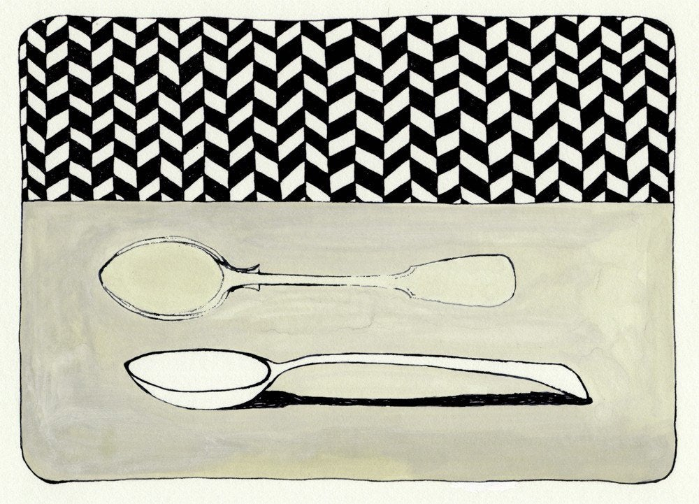 Image of Spoon with Wallpaper (Limited Edition Print)
